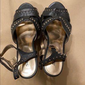 Soda cork wedge sandals size 9